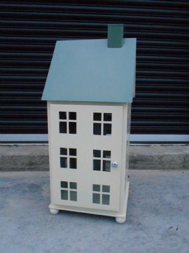 Large Cream & Sage Green House Lantern